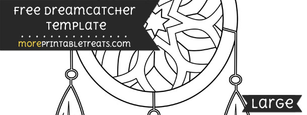 dreamcatcher template large
