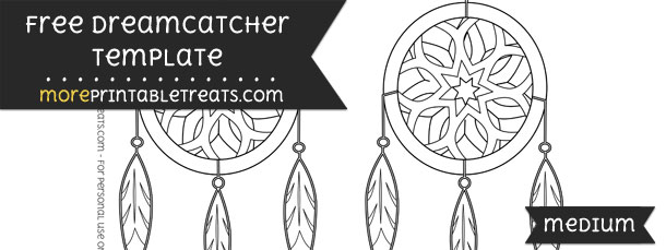 dreamcatcher template medium