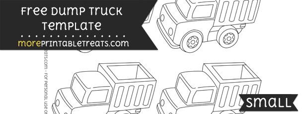 Dump Truck Template – Small