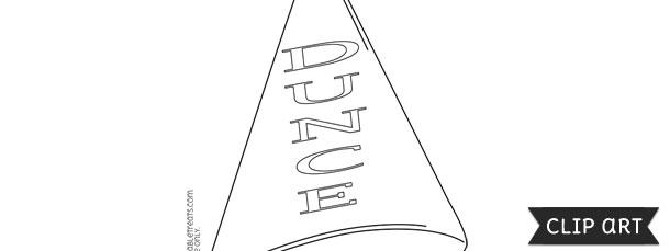 Dunce Hat Template - Bigstackstudios.com