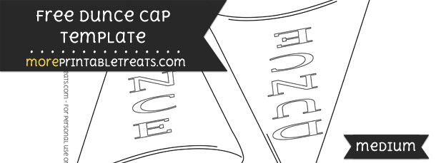 Dunce cap template medium for Dunce hat template