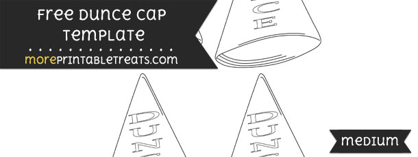 Dunce cap template small for Dunce hat template