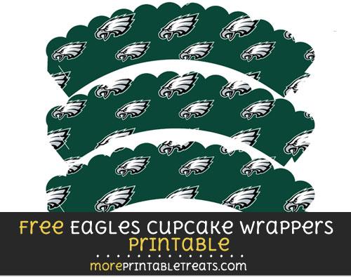 Free Philadelphia Eagles Scalloped Cupcake Wrappers