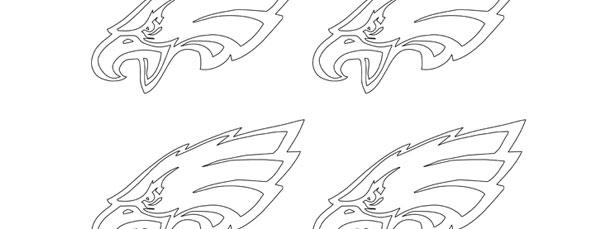 Small Eagles Logo Outline