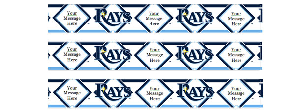 Editable Rays Logo Water Bottle Labels