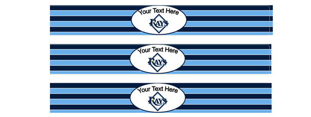 Editable Tampa Bay Rays Water Bottle Labels