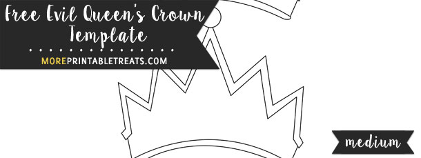 Evil QueenS Crown Template  Medium