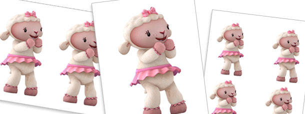 Excited Lambie Cut Outs