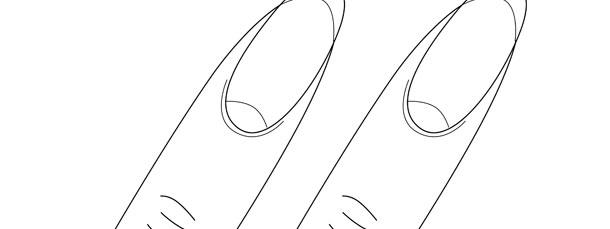 fingernail template medium