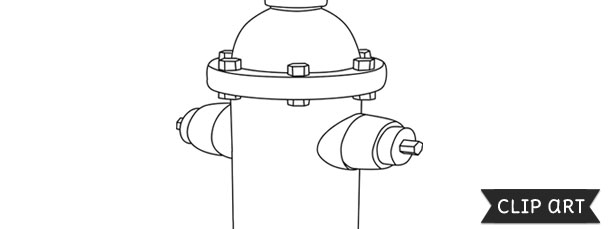 fire hydrant template clipart