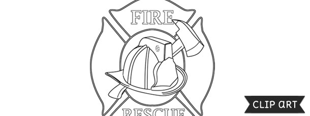 firefighter badge template clipart