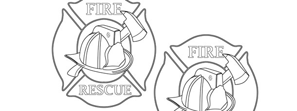 firefighter badge template medium