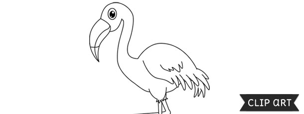 Flamingo Template – Clipart