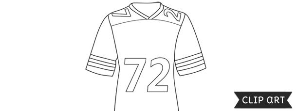 image about Football Jersey Template Printable named Soccer Jersey Template Clipart