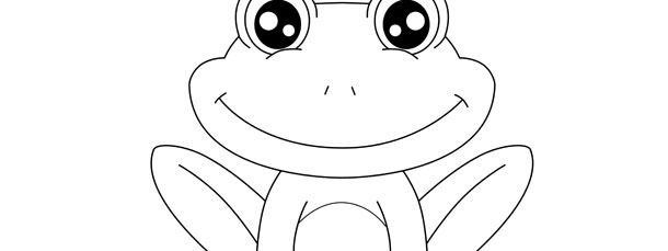 frog template large