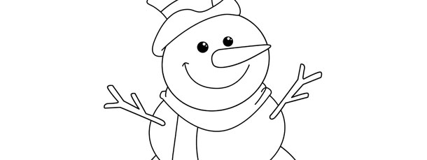 Frosty The Snowman Template  Large