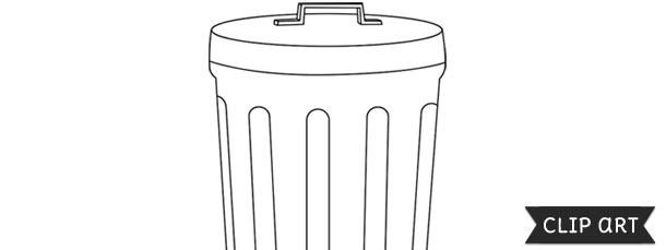 Garbage Can Template Clipart