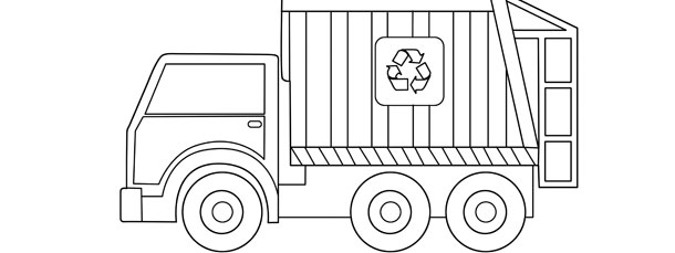 garbage truck template large