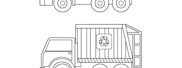 garbage truck template medium