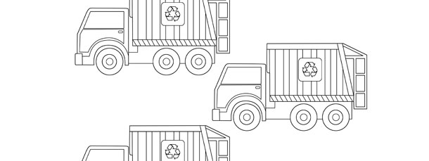 garbage truck template small