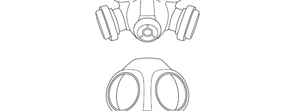 Gas Mask Template – Medium