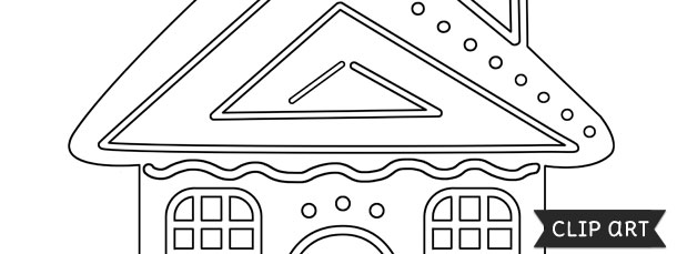Gingerbread House Template Clipart