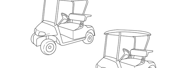 golf cart template medium