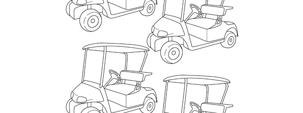 golf cart template small