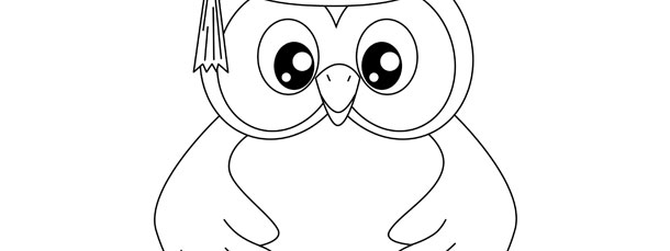 Graduation Owl Template – Large