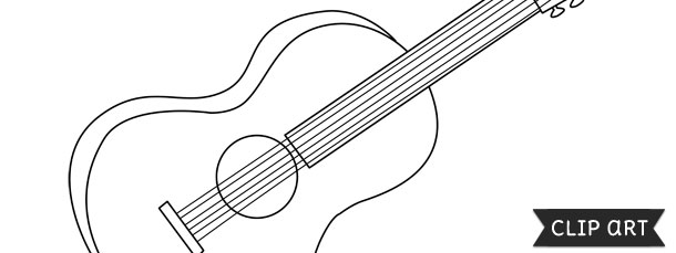 guitar template clipart