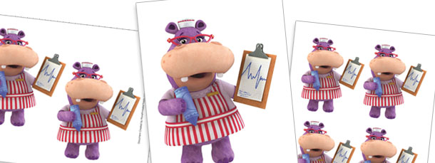 Hallie the Hippo with Medical Chart Cut Outs