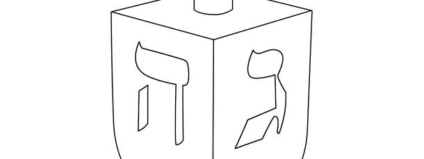 attractive paper dreidel template festooning example