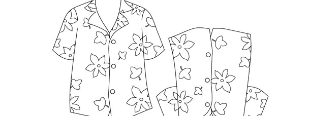 Hawaiian Shirt Template – Medium