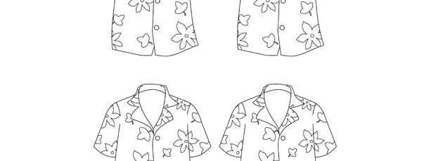 Hawaiian Shirt Template – Small
