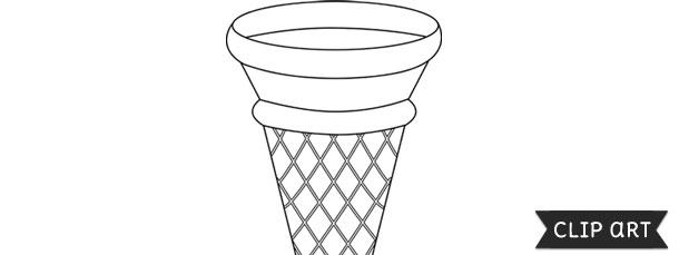 Ice Cream Cone Template – Clipart