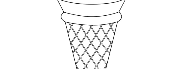 graphic relating to Printable Ice Cream Cone Template named Ice Product Cone Template Hefty