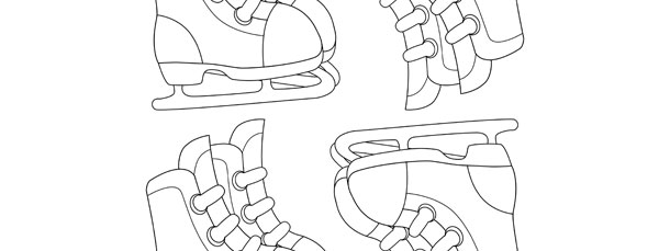 ice skates template small