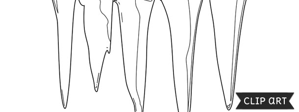 icicle template clipart