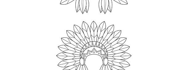 indian hat template - indian headdress template medium