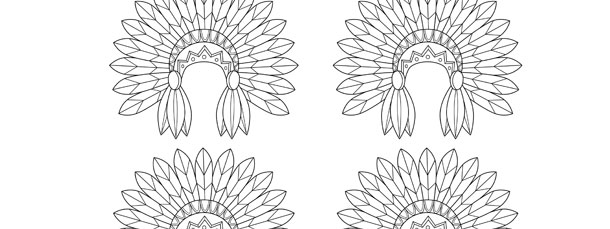 indian hat template - indian headdress template small
