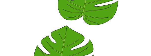 Jungle leaf cut out medium for Jungle leaf templates to cut out