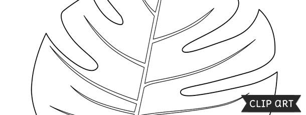 Jungle Leaf Template Clipart
