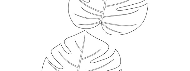 Jungle leaf template medium for Jungle leaf templates to cut out