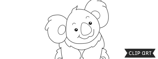 koala template clipart