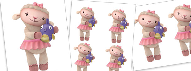 Lambie Holding Squeakers Cut Outs