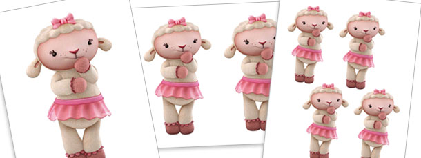 Lambie Thinking Cut Outs