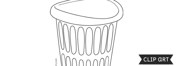 Laundry Basket Template Clipart