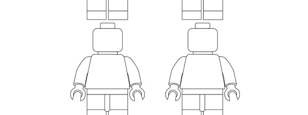Lego Toy Character Template Small