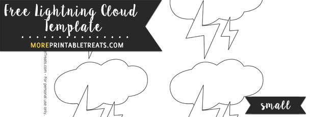 Lightning Cloud Template – Small