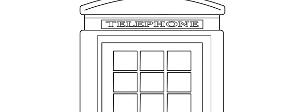 London Telephone Booth Template – Large